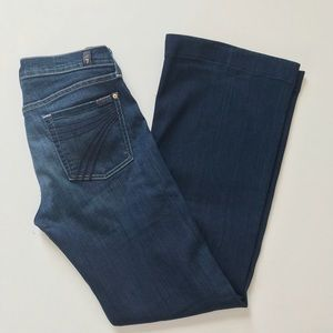 7 For All Mankind Dojo Jeans Size 27 Dark Flare